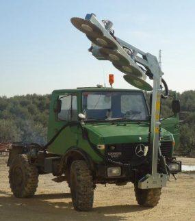 Prepodadora Doble Articulada de Discos PF-605 S-R : PF-555 S-R : PF-555 S-R 6 : JUMAR 2
